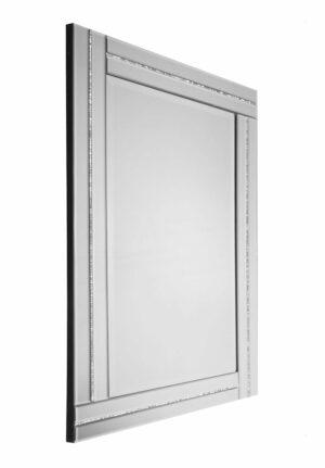Lustro prostokątne nowoczesne w klasycznej lustrzanej ramie Ariana 60/90 cm