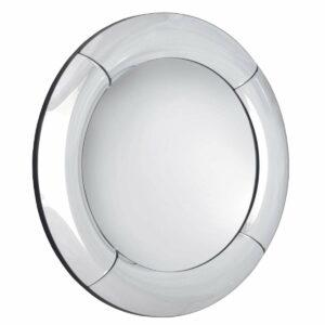 Lustro okrągłe nowoczesne dekoracyjne z wypukła lustrzana ramą Bitonto 80 cm