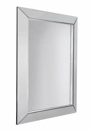 Lustro prostokątne nowoczesne w klasycznej prostej ramie z luster Gatto 66/90 cm