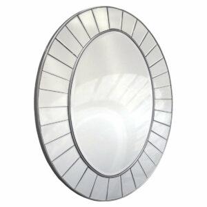 Lustro owalne nowoczesne lustro w ramie z mniejszych luster Pico 80/120 cm
