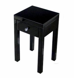 Szafka nocna nowoczesna lustrzana z szufladą Vera czarna 40/60/60 cm