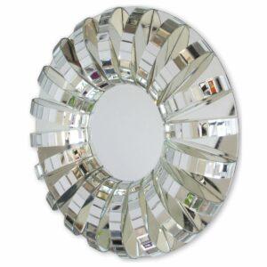 Lustro okrągłe nowoczesne w trójwymiarowej lustrzanej ramie Arche 100 cm