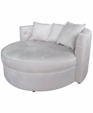 Fotel duży nowoczesny tapicerowany w jasno szarym welurze Swanson 81/149/159 cm