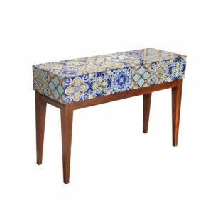 Konsola nowoczesna marokańska krata szklana Carini 41/79/118 cm