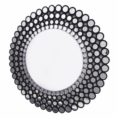 Lustro okrągłe nowoczesne w ramie z mniejszych okrągłych luster Ines C 120 cm