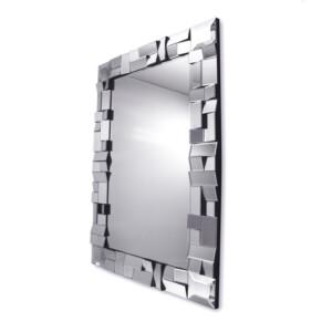 Lustro prostokątne nowoczesne w ramie z lustrzanych elementów Zuza 80/120 cm