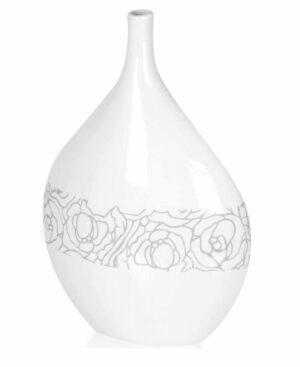 Biały wazon dekoracyjny 44 cm