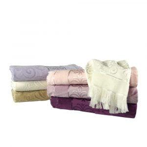 Ręcznik żakardowy strzępiony