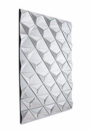 Lustro prostokątne nowoczesne w trójwymiarowe lustrzane elementy Lucy 75/120 cm