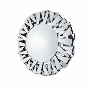 Lustro okrągłe nowoczesne w dekoracyjnej ramie Ness 100 cm