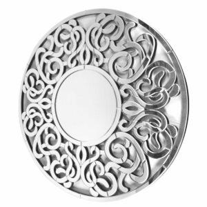 Lustro okrągłe nowoczesne dekoracyjne w lustrzanej ramie Altea 100 cm