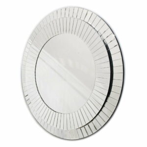 Lustro okrągłe nowoczesne dekoracyjnej w stylu Glamour Kleo 100 cm