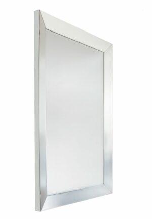 Lustro prostokątne nowoczesne w lustrzanej ramie Lyssa 80×120 cm