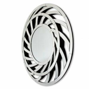 Lustro nowoczesne okrągłe w lustrzanej ramie Leto