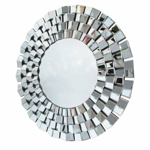 Lustro okrągłe nowoczesne w dekoracyjnej lustrzanej ramie Eris 100 cm