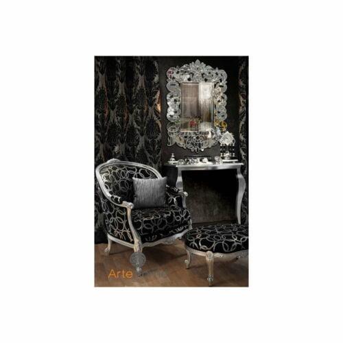 lustro nowoczesne w lustrzanej ramie Eurydyka aranżacja w salonie