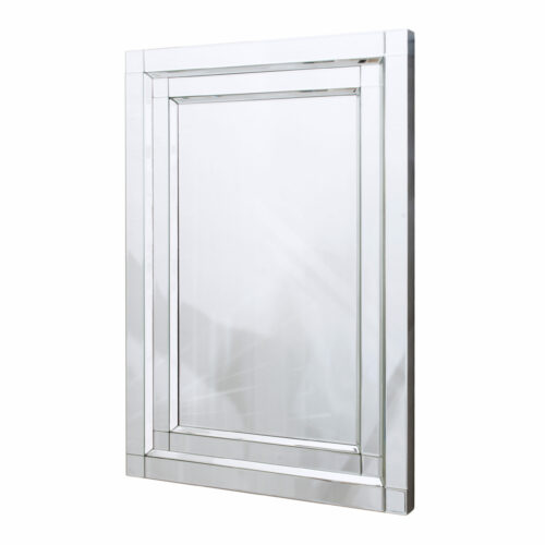 Lustro prostokątne nowoczesne w lustrzanej ramie Nina 70/100 cm