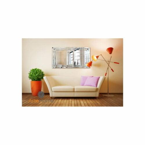 Lustro nowoczesne prostokątne w lustrzanej ramie Nina