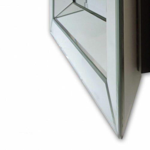 Lustro prostokątne nowoczesne w klasycznej ramie lustrzanej Tetyda 90/180 detal
