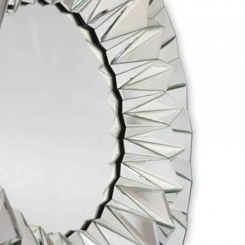 Lustro nowoczesne okrągłe Hecate detal