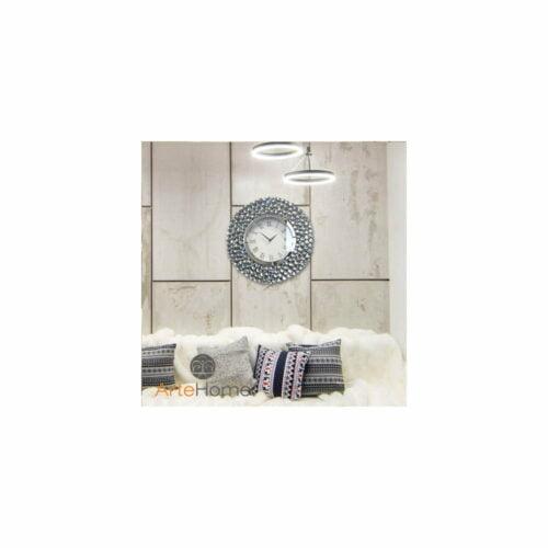 Zegar ścienny nowoczesny Ariano clear aranżacja w salonie