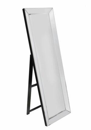 Lustro prostokątne no stojące w lustrzanej ramie Bacoli 50/160 cmwoczesne