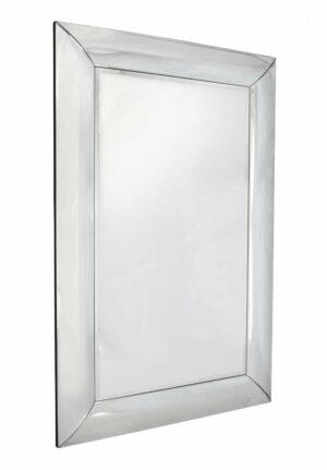 Lustro prostokątne nowoczesne w lustrzanej ramie Bergamo 80/120 cm