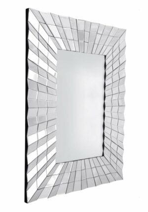 Lustro prostokątne nowoczesne w dekoracyjnej ramie Galante 90/120 cm
