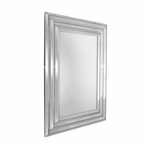 Lustro prostokątne nowoczesne w klasycznej ramie lustrzanej Leone 80/140 cm
