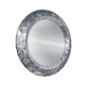 Lustro okrągłe nowoczesne w lustrzanej ramie Como 100/100