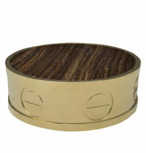 Stolik kawowy nowoczesny złoty blat marmurowy L'indiscret 32/95/95 cm