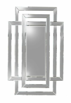 Lustro prostokątne nowoczesne w ramie z małych luster Zita 80/120 cm