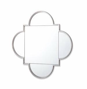 Lustro kwadratowe nowoczesne w ramie w kolorze srebrnym Cento 100/100 cm