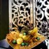 Ażurowy wysoki lustrzany parawan, składany, wysoka jakość Artehome