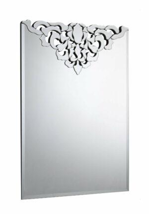 Lustro prostokątne nowoczesne zdobione Avellino 106/75 cm
