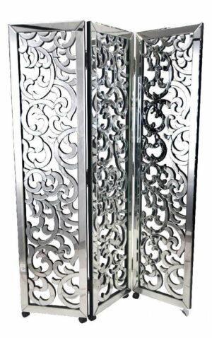 Parawan nowoczesny srebrny lustrzany Busto 3/45/180 cm