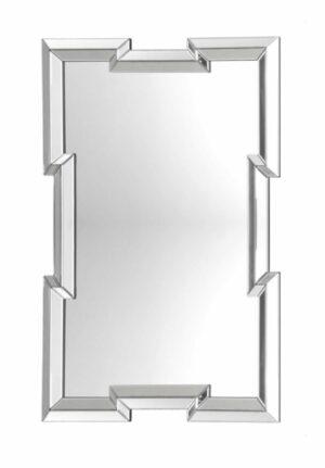Lustro prostokątne nowoczesne w lustrzanej ramie Lante 80/120 cm