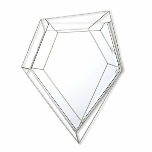 Lustro prostokątne nowoczesne w ramie z efektem trójwymiarowym Massei I 92/140 cm