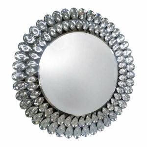 Lustro okrągłe nowoczesne dekoracyjne Crystal 90 cm