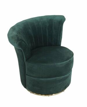 Fotel tapicerowany nowoczesny welurowy Gabi Zielony 69/71/74 cm