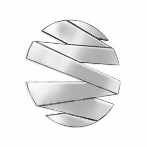 Lustro nowoczesne okrągłe dekoracyjne Rizzo II 90 c