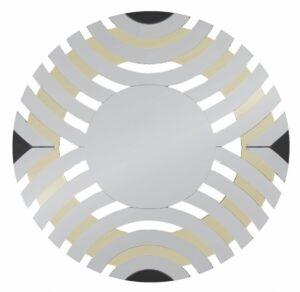 Lustro okrągłe nowoczesne dekoracyjne Elisa Szampańskie 90 cm
