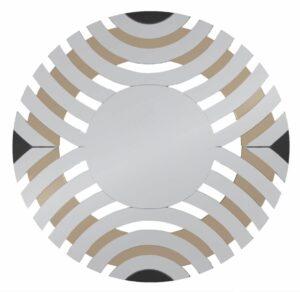 Lustro nowoczesne dekoracyjne ciemne złoto Elisa Tawny 90 cm