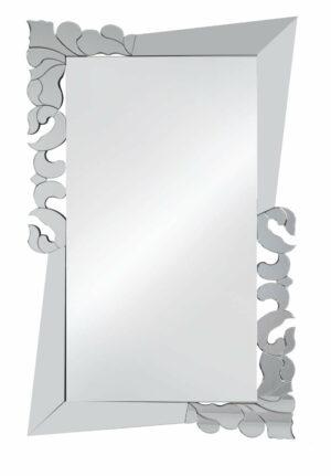 Lustro prostokątne nowoczesne w lustrzanej zdobionej ramie Monic 90/150 cm