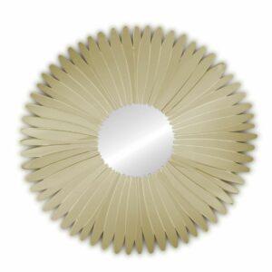 Lustro okrągłe dekoracyjne nowoczesne w lustrzanej ramie Stella Szampańskie 80 cm