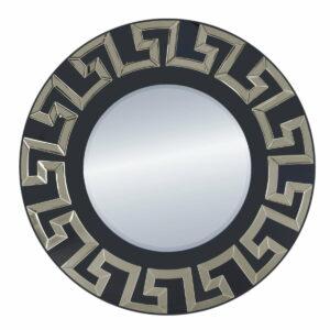 Lustro okrągłe nowoczesne w lustrzanej ramie Verice Szampańskie 80 cm