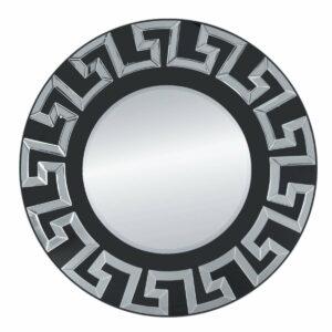 Lustro okrągłe nowoczesne w lustrzanej ramie Verice Srebrne 80 cm