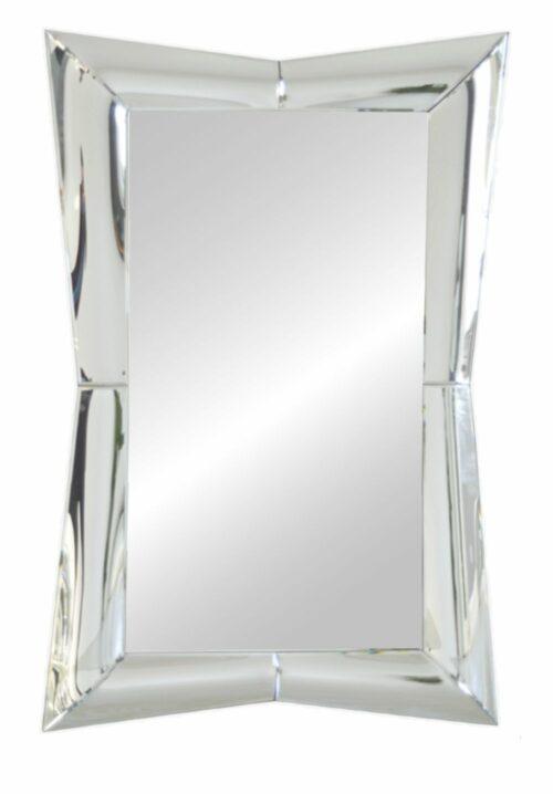 Lustro prostokątne nowoczesne w lustrzanej ramie Villio 90/150 cm
