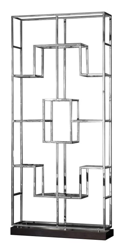 Regał nowoczesny chromowany srebrny duży Deacon 29/108/240 cm