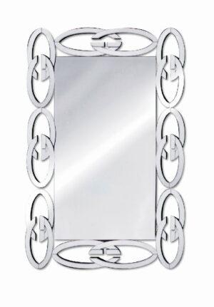 Lustro prostokątne nowoczesne w lustrzanej ramie Renee 80/120 cm